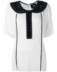 Class Roberto Cavalli - Embellished Collar Blouse - Lyst