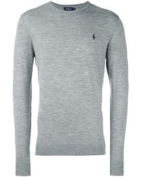 e2d9f3ddb4e Lyst - Polo Ralph Lauren Classic Cable Knit Jumper in Gray for Men