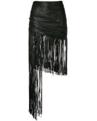 Magda Butrym - Asymmetric Fringed Skirt - Lyst