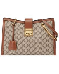 Gucci - Padlock GG Supreme Canvas Shoulder Bag - Lyst