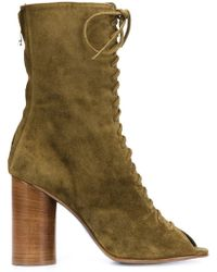 Valas - Peep-toe Lace-up Boots - Lyst