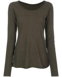 Rundholz Black Label - Boat Neck Long Sleeve T-shirt - Lyst