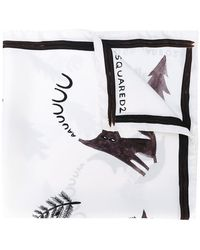 DSquared² - Printed Scarf - Lyst