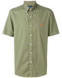Ralph Lauren - Logo Patch Shortsleeved Shirt - Lyst