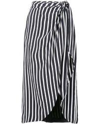 Jonathan Simkhai - Striped Midi Skirt - Lyst