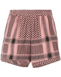 Cecilie Copenhagen - Mixed-print High-rise Shorts - Lyst