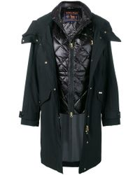 Woolrich - Hooded Coat With Quilted Gilet - Lyst