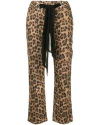 Miaou - Pantalones con estampado de leopardo - Lyst