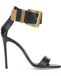 Grey Mer - Buckle Ankle Strap Sandals - Lyst
