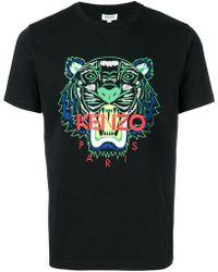 KENZO - Camiseta con estampado Tiger - Lyst