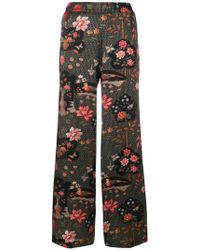 Shirtaporter - Floral Print Trousers - Lyst