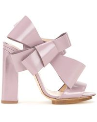 Delpozo - Oversized Bow Sandals - Lyst