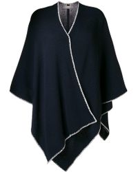 N.Peal Cashmere - Crochet Detail Knitted Cape - Lyst