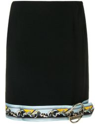 Emilio Pucci - Contrast Hemline Mini Skirt - Lyst