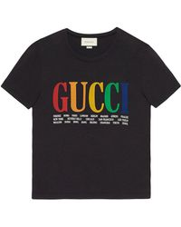 Gucci - Oversize T-shirt With Cities - Lyst
