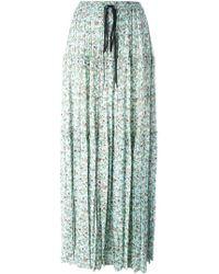 Chloé - Floral Print Maxi Skirt - Lyst
