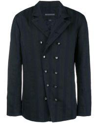 John Varvatos - Double-breasted Shirt Jacket - Lyst