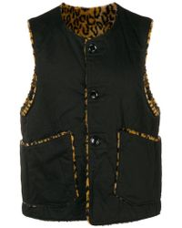 Engineered Garments - Reversible Buttoned Vest - Lyst