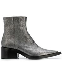 afea0e8e259 Mm6 By Maison Martin Margiela Pink Faux-python Over-the-knee Boots ...