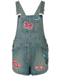 Valentino - Punk Insect Appliqué Dungarees - Lyst
