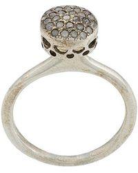 Rosa Maria - Diamond Circular Ring - Lyst