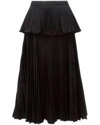 Issa - Accordian Pleats Layered Skirt - Lyst