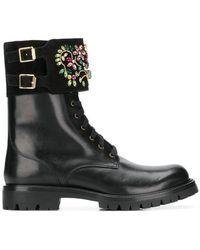 Rene Caovilla - Combat Boots - Lyst