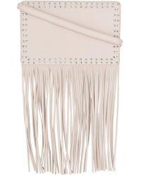 Twin Set - Studded Fringed Shoulder Bag - Lyst