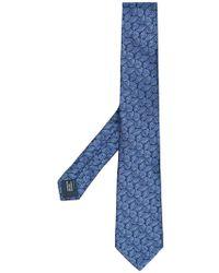 Lanvin - Corbata con motivo de hojas - Lyst