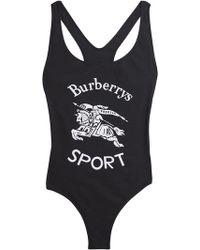 Burberry - Archive Logo Print Swimsuit - Lyst