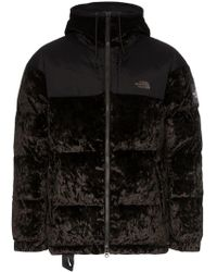 The North Face - Nuptse Velvet Feather Down Hooded Jacket - Lyst