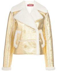 Sies Marjan - Shearling Collar Jacket - Lyst