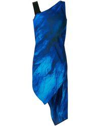 Neil Barrett - Asymmetric Catwalk Dress - Lyst