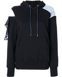 Sacai - Deconstructed Cold Shoulder Hoodie - Lyst