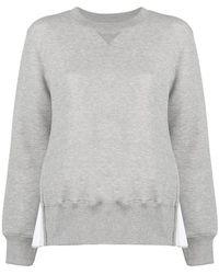 Sacai - Box Pleat Panel Sweatshirt - Lyst
