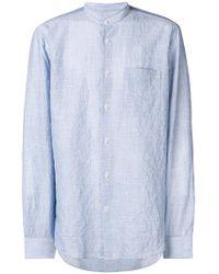 Mauro Grifoni - Striped Mandarin Collar Shirt - Lyst
