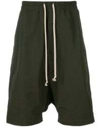 Rick Owens Drkshdw - Drop-crotch drawstring shorts - Lyst