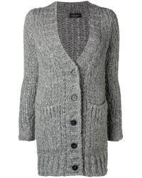 Roberto Collina - Chunky Knit Button Cardigan - Lyst
