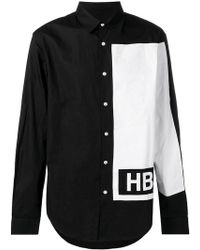 Hood By Air - Contrast Long-sleeve Shirt - Lyst