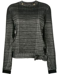 Louis Vuitton - Checked longsleeved blouse - Lyst