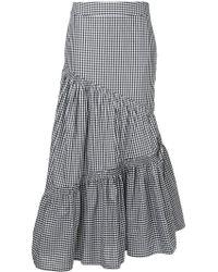 Teija - Asymmetric Gingham Tiered Maxi Skirt - Lyst