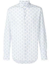 Ferragamo - Printed Slim Fit Shirt - Lyst
