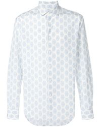 Ferragamo - Printed Slim Fit Shirt - Lyst