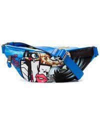 Moschino - Blue Comic Print Belt Bag - Lyst
