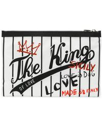 Dolce & Gabbana - The King Of Love Printed Clutch - Lyst