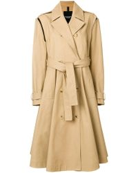 CALVIN KLEIN 205W39NYC - Removable Sleeve Trench Coat - Lyst