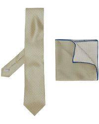 Canali - Set de corbata y pañuelo de bolsillo - Lyst