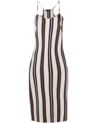 Roberto Collina - Striped Midi Slip Dress - Lyst