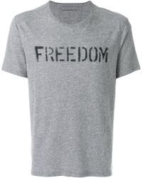 John Varvatos - Freedom Print T-shirt - Lyst