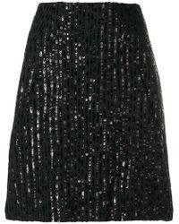 Nina Ricci - Sequin Stripes Straight Skirt - Lyst